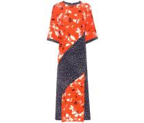 Bedrucktes Kleid Sachi aus Seide