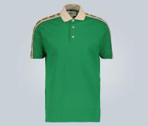 Poloshirt mit Logo-Borten