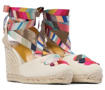 X Paul Smith Wedges Coralina aus Canvas