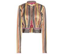 Cropped-Jacke aus Baumwolle und Seide