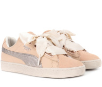 Sneakers Basket Heart Up aus Veloursleder