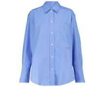 Oversize-Hemd aus Baumwollpopeline