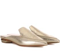 Slippers Beya aus Metallic-Leder