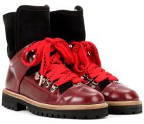 Ankle Boots Edna aus Leder mit Wollfutter