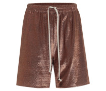 Lilies Shorts aus Metallic-Strick