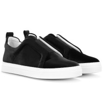 Sneakers Slider aus Samt