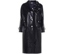 Verzierter Mantel aus beschichtetem Cloqué