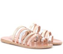 Sandalen Niki aus Metallic-Leder