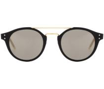 Sonnenbrille mit rundem Acetatrahmen