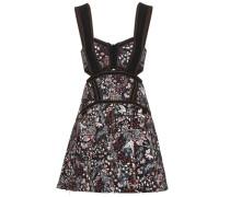 Jacquard-Kleid mit Plissees und Cut-outs