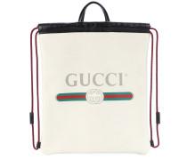 Bedruckter Rucksack aus Leder