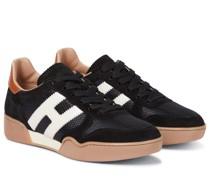 Sneakers H357 aus Veloursleder