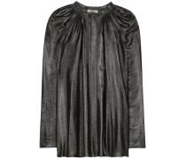 Metallic-Bluse aus einem Seidengemisch