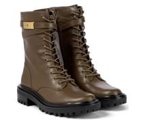 Ankle Boots T Hardware aus Leder