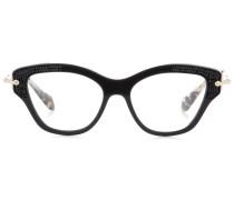 Verzierte Brille mit Cat-Eye-Rahmen
