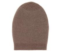 Beanie-Mütze aus Cashmere und Wolle