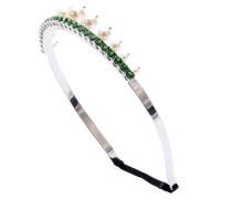 Kristall- und perlenverzierter Haarreif