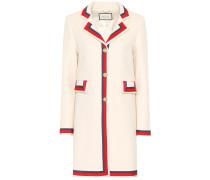 Mantel aus Wolle mit Verzierung