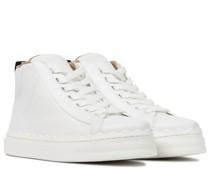 High-Top-Sneakers Lauren aus Leder