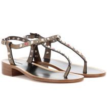 Verzierte Sandalen Aelith aus Leder