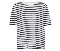 Gestreiftes T-Shirt mit Leinen
