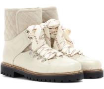 Ankle Boots Mira Shine aus Leder und Veloursleder