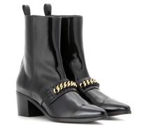 Glänzende Ankle Boots