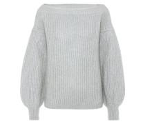 Off-Shoulder-Pullover mit Mohair