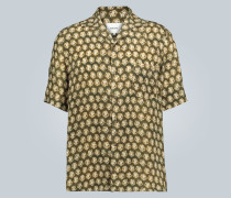 Hemd mit Batik-Print