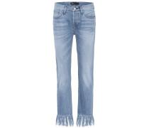 Cropped Jeans WM3 mit Fransen