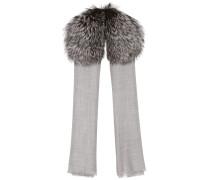Schal aus Cashmere mit Fuchsfell