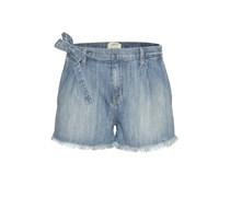 Shorts The Pleated Cut Off aus Demin