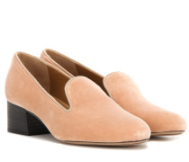 Loafer-Pumps aus Samt