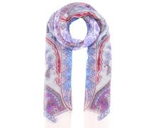 Bedruckter Schal aus Leinen und Seide
