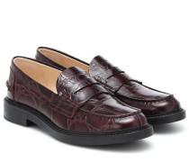 Loafers Spiga aus Leder