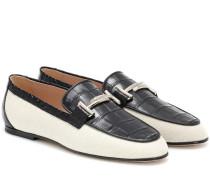 Loafers Double T mit Lederanteil