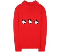 Pullover Hunk aus Wolle mit Applikationen