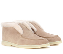 Loafers Open Walk aus Veloursleder