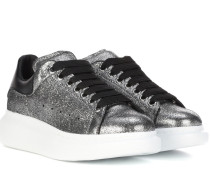 Plateau-Sneakers Larry aus Metallic-Leder