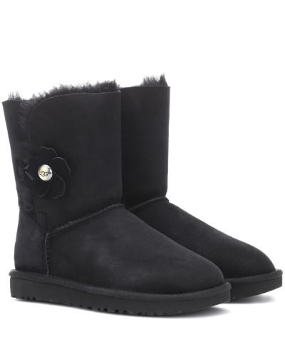 Marktfähig Erstaunlicher Preis UGG Damen Ankle Boots Baily Button Poppy aus Veloursleder Verkauf Besuch mZJmm