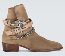 Ankle Boots Bandana Buckle