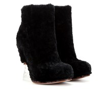 Wedge-Ankleboots aus Shearling