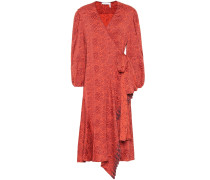 Wickelkleid aus Jacquard