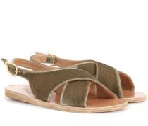 Sandalen Maria aus Samt