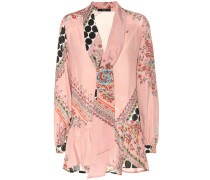 Bedruckte Bluse aus Seiden-Crêpe