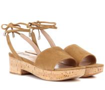 Garavani Sandalen aus Veloursleder