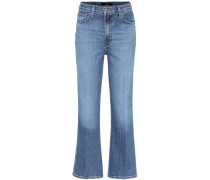 High-Rise Cropped Jeans Julia