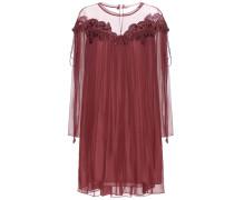 Kleid aus Seiden-Georgette mit Spitze