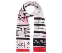Bedruckter Schal aus Baumwolle