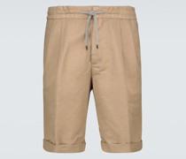 Bermuda-Shorts mit Leinenanteil